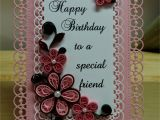 Happy Birthday Card with Quilling Paper Pink Birthday Card with Spellbinders Dies and Quilled