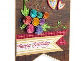 Happy Birthday Card with Quilling Paper Swapnil Arts Handmade 3d Paper Quilling Happy Birthday