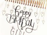 Happy Birthday Card Zum Ausdrucken Geburtstagskarte Gluckwunschkarte Geburtstag Lettering