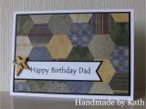 Happy Birthday Dies for Card Making Handmade by Kath Happy Birthday Dad