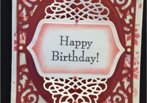 Happy Birthday Dies for Card Making Spellbinders Filigree Delights Tranquil Moments Dies