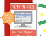 Happy Birthday Edit Name On Card Financial Burden Birthday Card Teepee Creations Funny