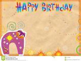 Happy Birthday From the Cat Card Congratulatory Card On Birthday Stock Image Image Of Card