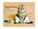 Happy Birthday From the Cat Card Funny Cat Birthday Cards Postcards and Greeting Cards