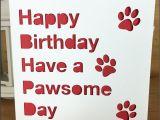 Happy Birthday From the Dog Card Birthday Card Pet Happy Birthday From the Pet to the Pet