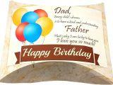 Happy Birthday Gift Card with Name Amazon Com Happy Birthday Dad Pillow Greeting Gift Card Box