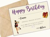 Happy Birthday Gift Card with Name Seville Clothing Happy Birthday Gift Card
