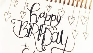Happy Birthday Hand Lettering Card Geburtstagskarte Gluckwunschkarte Geburtstag Lettering