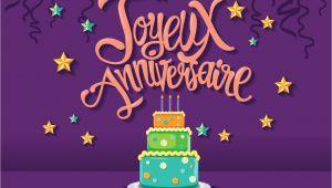 Happy Birthday In French Card Alles Gute Zum Geburtstag Im Franzosischen Joyeux