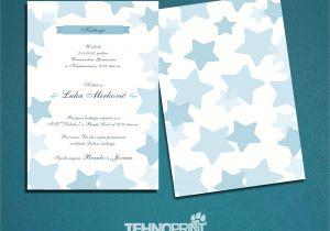 Happy Birthday Invitation Card Design Pozivnica Za Rodjendan Baby Birthday Invitation Baby