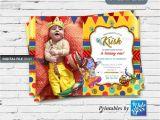 Happy Birthday Invitation Card In English Krishna Hindu God themed Birthday Invite Invitation Card