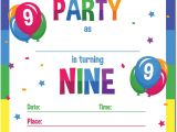 Happy Birthday Invitation Card In English Papery Pop 9th Birthday Party Invitations with Envelopes 15 Count 9 Year Old Kids Birthday Invitations for Boys or Girls Rainbow