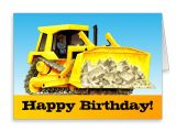 Happy Birthday Ke Liye Card Kids Custom Construction Happy Birthday Bulldozer Card