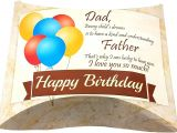 Happy Birthday Love Card with Name Amazon Com Happy Birthday Dad Pillow Greeting Gift Card Box