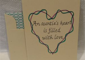 Happy Birthday Love Card with Name An Auntie S Heart is Filled with Love Auntie Card Aunt