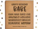 Happy Birthday Lovely Lady Card Happy Birthday Babe From Girlfriend Woman Square Card