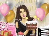 Happy Birthday Lovely Lady Card Pin by Mm On Mm Sarra Art Girly Drawings Girly M