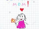 Happy Birthday Mama Ji Card Illustration Die Handskizze Zeichnet Stockfotos