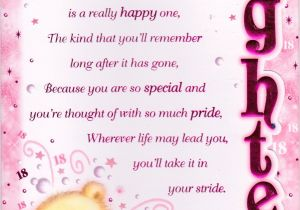Happy Birthday Message In Card 18th Happy Birthday Greeting Card Lovely Verse Embellished