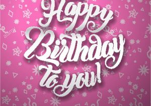 Happy Birthday Message In Card Happy Birthday Greeting Card Background Vector Illustration