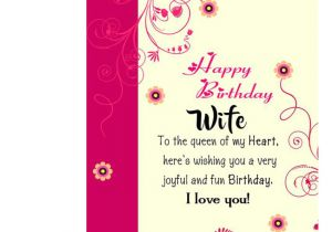 Happy Birthday Message In Card Happy Birthday Wife Greeting Card