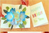 Happy Birthday Pop Up Card Free Printable Happy Birthday Card with Pop Up Bouquet