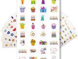 Happy Birthday Stickers for Card Making Strivezen Planer Kalender Sticker Set Monats Wochenkalender