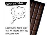 Happy Birthday to Husband Card Funny Birthday Gift for Men Boyfriend Husband Rude Boxed Chocolate Greeting Card Present Od126