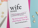 Happy Birthday to Wife Card Dictionary Wife Personalised Birthday Card A is for Alphabet