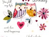 Happy Birthday to Wife Card Lovely Wife Birthday Greeting Card Cards