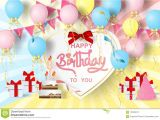 Happy Birthday Wishes Card Images Paper Art Of Happy Birthday Elements Background Vector