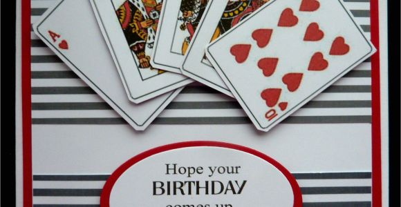 Happy Birthday Wishes Card Images S459 Hand Made Birthday Card Using Playing Card Images