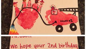 Happy Birthday You Ruined My Life Card Firefighter Birthday Card Firefighter Handprint and Fire