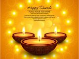 Happy Diwali Email Template orange Background with Candles to Celebrate Diwali Vector