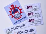 Happy Fathers Day Card Handmade Father S Day Card and Gift Vouchers