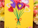 Happy Mothers Day Diy Card Diy Flower Bouquet Mothers Day Card