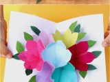 Happy Mothers Day Diy Card Pop Up Flowers Diy Printable Mother S Day Card A Piece
