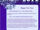 Happy New Year Business Email Template Happy New 2012 Year Free HTML E Mail Templates