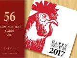 Happy New Year Creative Card 2017 Happy New Year Cards Set Graphics Creative Market