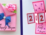 Happy New Year Greeting Card Handmade How to Make Happy New Year Card 2020 New Year Greeting