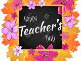 Happy Teachers Day Card Download Gluckwunsch Glucklicher Lehrer Tag Mit Blatt Rahmen Und