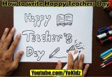 Happy Teachers Day Card Kaise Banaya Jata Hai How to Write Happy Teachers Day In Style for Kids