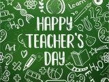 Happy Teachers Day Card Printable Happy Teacher S Day Greeting On School Realistic Green Chalkboard