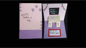 Happy Teachers Day Pop Up Card How to Make Teacher S Day Card Diy Greeting Card Handmade Teacher S Day Pop Up Card Idea