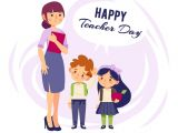 Happy Teachers Day Simple Card Free Happy Teachers Day Greeting Card Psd Designs Happy