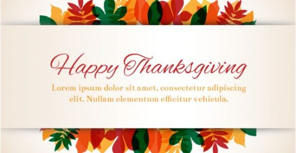 Happy Thanksgiving Email Templates Thanksgiving Template with Leaves Vector Free Download