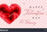 Happy Valentine Day Card with Name Happy Valentines Day 3d Paper Cut Stock Vektorgrafik