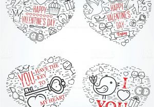 Happy Valentine Day Card with Name Happy Valentines Day Greetings Card Labels Badges Symbols