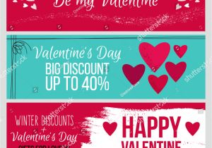 Happy Valentine Day Card with Name Set Od Modern Flat Valentines Day Stock Vector Royalty Free