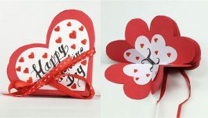 Happy Valentine S Day Diy Card Homemade Valentine Card Diy Valentine Accordion Flip Card